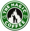 The magic coffee embroidery design
