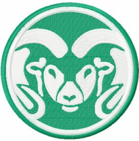 Colorado State Rams logo machine embroidery design