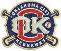 Oklahoma City Redhawks logo embroidery design