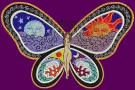 Great Fantastic Butterfly free machine embroidery design