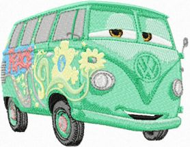 Fillmore Volkswagen bus machine embroidery design