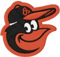 Baltimore Orioles gap logo embroidery design