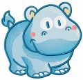 Tiny hippo 2 embroidery design