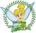 Tinkerbell in the Frame of the Leaves embroidery design