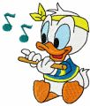 Donald Duck Plays the Trumpet embroidery design
