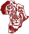 Lion Africa embroidery design