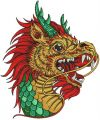 Chinese dragon embroidery design