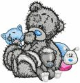 Teddy Bear and friends embroidery design