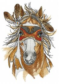 Warrior's horse machine embroidery design