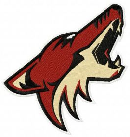 Phoenix Coyotes logo machine embroidery design
