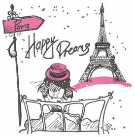 Paris Happy dreams machine embroidery design