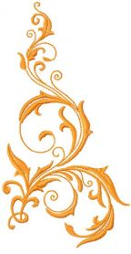 Gold swirl decoration free embroidery design