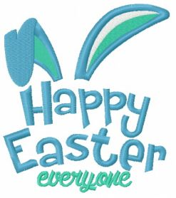 Happy Easter everyone machine embroidery design