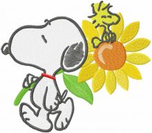 Snoopy with sunflower
