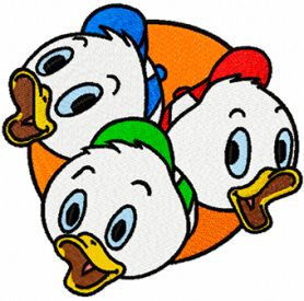 Friends ducks machine embroidery design