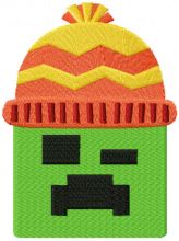 Minecraft Creeper wears a winter hat