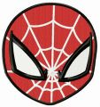 Spiderman mask embroidery design