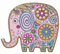 Elephant 3 embroidery design