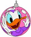 Daisy Duck Christmas Ball embroidery design
