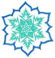 Blue and green snowflake embroidery design