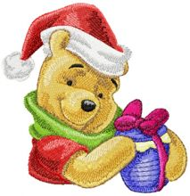 Winnie Pooh with Christmas gift 2