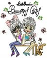 Best friends beautiful girl embroidery design