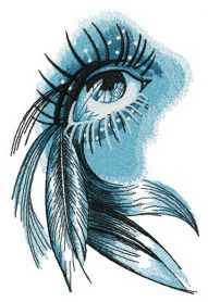Eye of Indian girl machine embroidery design
