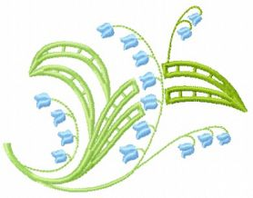 Lily of the valley lace machine embroidery design