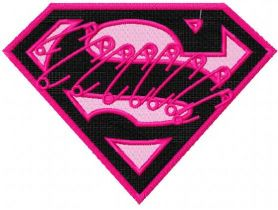 Supergirl logo embroidery design