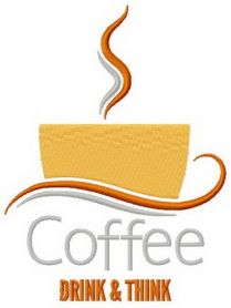 Coffee cup 6 machine embroidery design