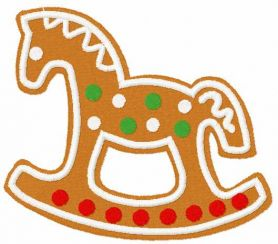 Horse gingerbread free embroidery design