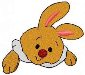 Bunny toy free embroidery design