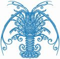 Crayfish embroidery design