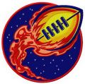 Football comet embroidery design