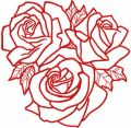 Roses light embroidery design