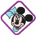 Minnie Mouse 3 embroidery design