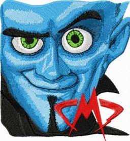 Megamind  machine embroidery design