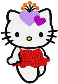 Hello Kitty Night Party machine embroidery design