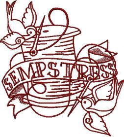 Sempstress embroidery design 2