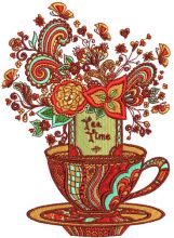 Tea time post card