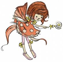Fairy in polka dot dress