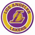 Los Angeles Lakers round logo embroidery design