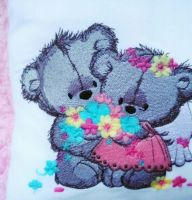 Teddy Bear wedding embroidery design