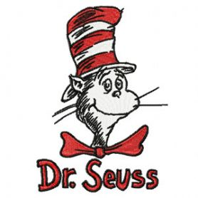 Dr. Seuss Cat in the Hat machine embroidery design