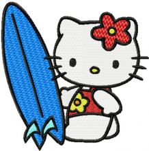 Hello Kitty Surfer
