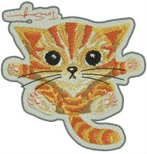 Angry kitten badge
