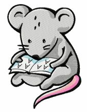Tiny mouse reading