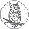 Owl cross stitch free embroidery design