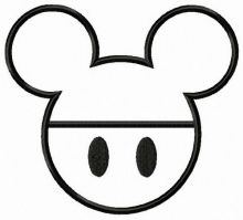 Mickey emblem applique