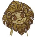 Cute lion embroidery design